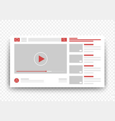 View video clips in the browser window vector