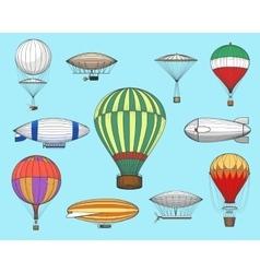 Vintage flights airships vector