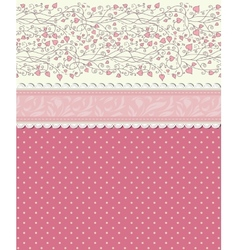 Vintage floral red background vector