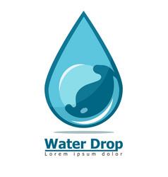 water drop blue underwater bubble vector image