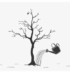 watering can water trees vector image