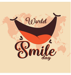 world smile day vector image
