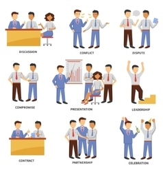 Business character set vector image vector image