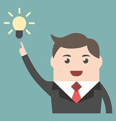 Businessman with great idea vector image