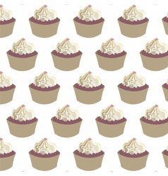 Delicious Cupcakes pattern vector image vector image