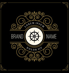 Luxury logo in vintage style vector