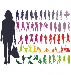 silhouettes women vector image vector image