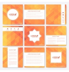 Yellow set of square template brochure Business vector image vector image