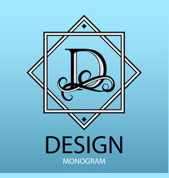 design modern logo letter monogram for business vector image vector image