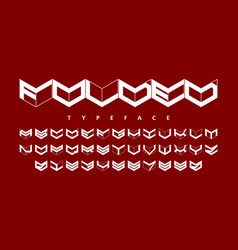 folded style font alphabet and numbers vector image vector image