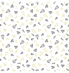 Hand drawn seamless pattern with diamonds vector image