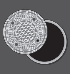 manhole cover vector image vector image