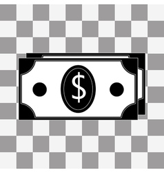 Money icon on a transparent vector image