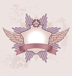 shield badge vector image vector image