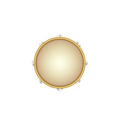 tambourine musical instrument vector image