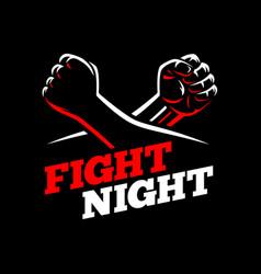 Fists fight mma kick boxing karate rebel vector