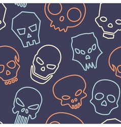 Skulls seamless pattern vector image vector image