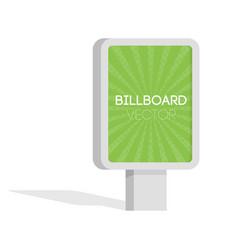 advertise billboards city light billboard flat 3d vector image