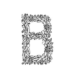 letters floral b vector image vector image