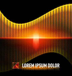 Pulse of music vector image vector image