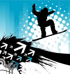 snowboarding background vector image