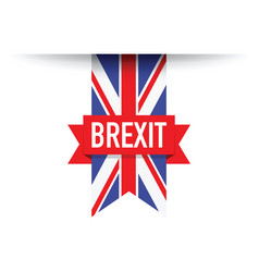 united kingdom brexit flag vector image vector image