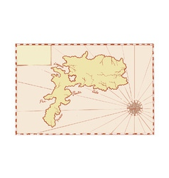 Vintage Map of Island vector image
