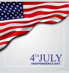 4th july banner usa flag waving vector image