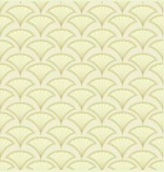 Abstract seamless pattern fan shape ornament vector