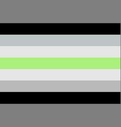 Agender pride flag vector