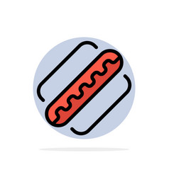 America american hotdog states abstract circle vector