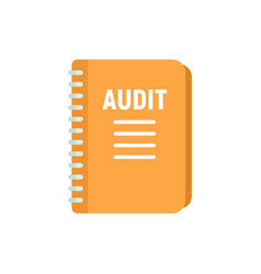 Audit notebook icon flat isolated vector