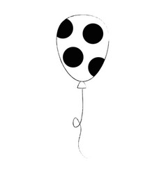 balloon air dotted party decorative vector image