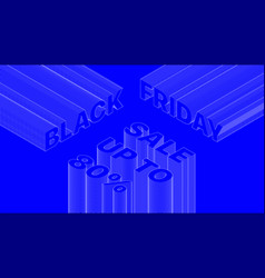 banner trendy design template black friday sale vector image