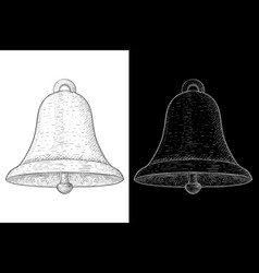bell hand drawn sketch vector image