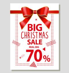 Big christmas sale 70 percent off reduction vector