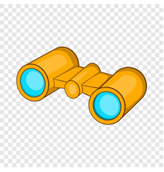 Binoculars icon cartoon style vector