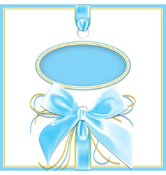 blue background bow vector image
