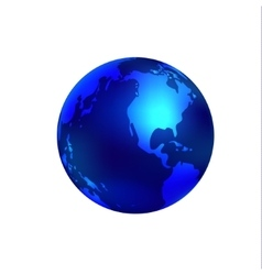 Blue world globe vector