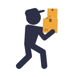 box man package delivery design vector image