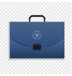 briefcase icon realistic style vector image