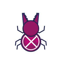 bug virus infection icon vector image