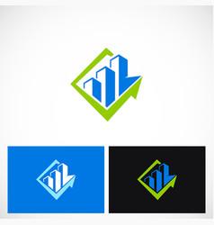 Building business arrow company logo vector