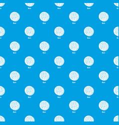 Bun pattern seamless blue vector
