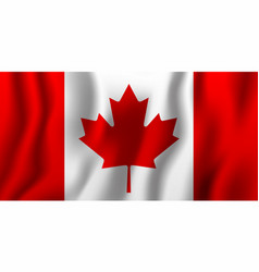 canada realistic waving flag national country vector image