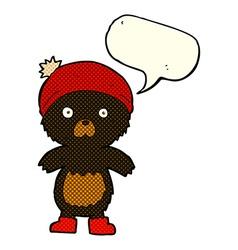 Cartoon cute teddy bear with speech bubble vector