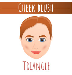 Cheek blush triangle face concept background vector