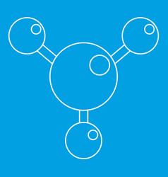 Chemical and physical molecules icon outline vector