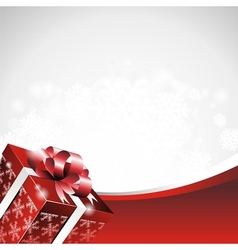 christmas with gift box vector image
