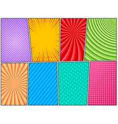 Comic book pages colorful composition vector